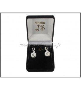 Borchie orecchini occhio di Santa Lucia e tondo in argento incisa