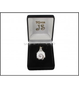 Pendant silver Eye St Lucia, Round belière claw 8423E + gift box