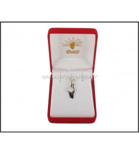 Pendant, Card Corsican + Eye of Holy Lucie black Silver 2243E + box