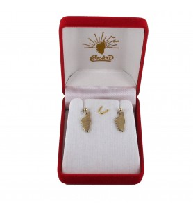 Studs earrings card Corsican Gold Plated