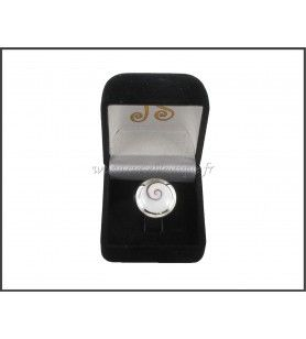 Verstellbarer ring runde Auge Lucia kontur silber