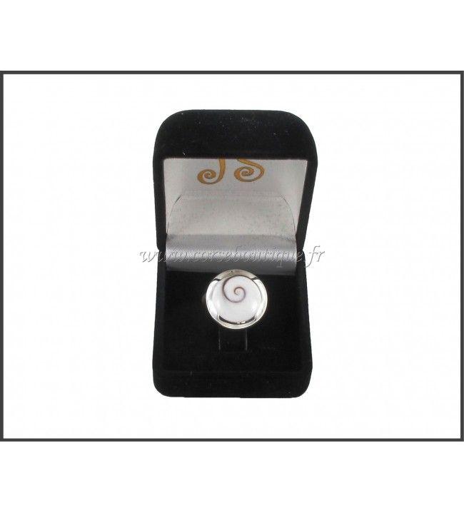 Ring silber runde Auge von Sainte Lucie 5120 + Ecrin
