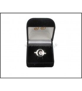 Ring circle silver Eye of santa Lucia and zirconium oxide