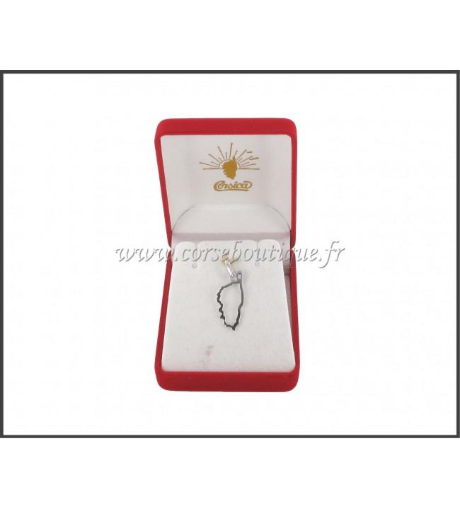 Pendant corsica Silver plated with black Rhodium 2139AE + box
