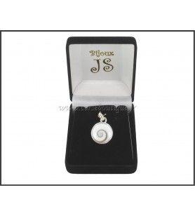 Colgante de plata de los Ojos de santa Lucía Redondo belière fantasía 8410E + caja de regalo
