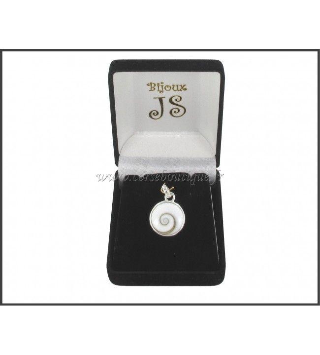 Pendant silver Eye of santa Lucia Round belière fantasy 8410E + gift box
