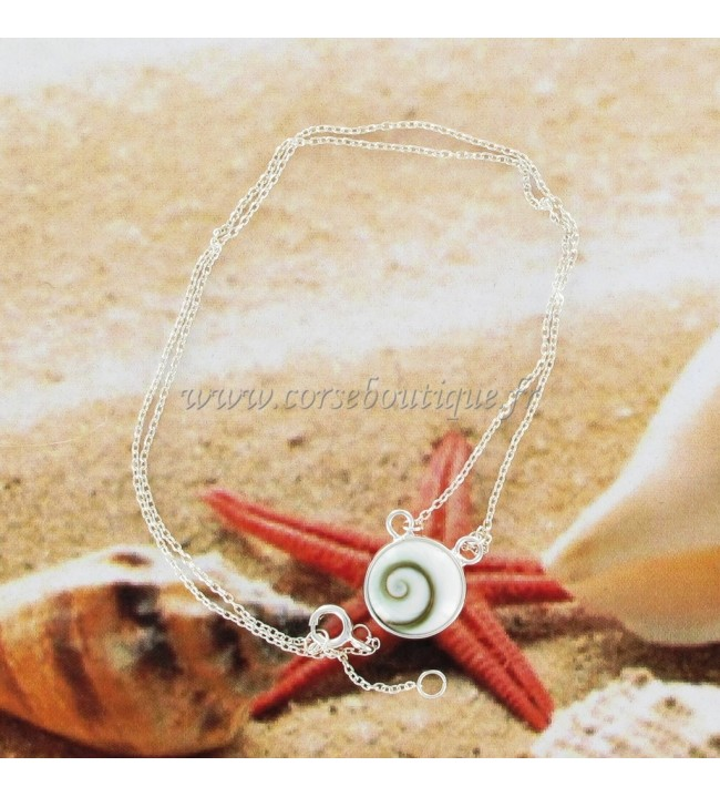 Necklace chain silver Eye of santa Lucia Round 6505