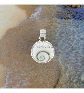Silver pendant Saint Lucia eye round  - Silver pendant Eye of Saint Lucia round