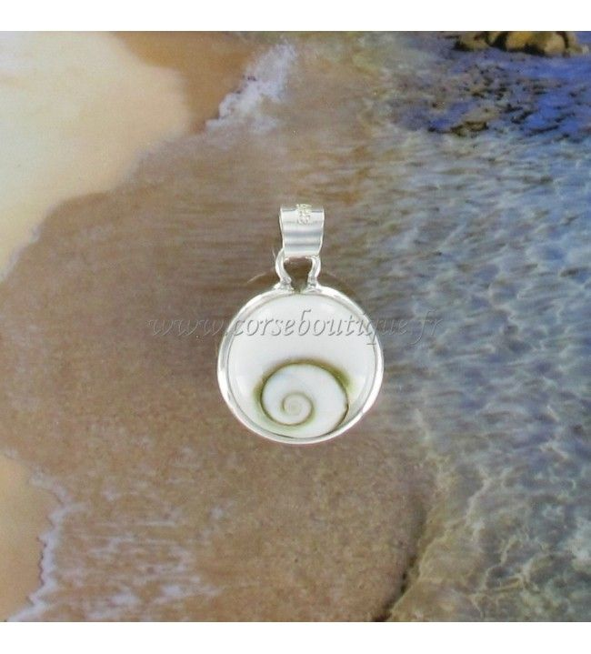 Pendant silver Eye of santa Lucia round