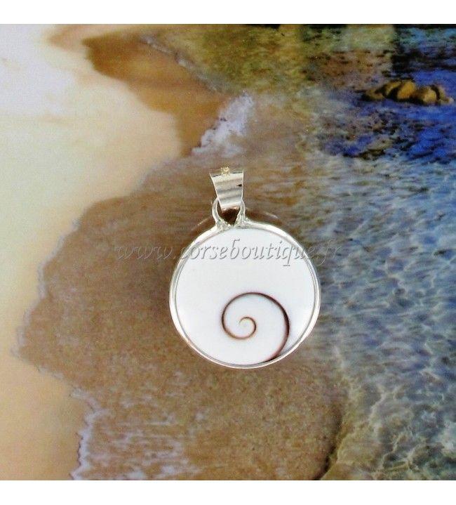 Pendant silver Eye of santa Lucia round Medium Template