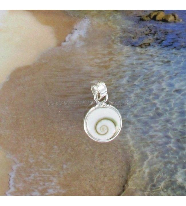 Pendant silver Eye of santa Lucia round TPM 6450
