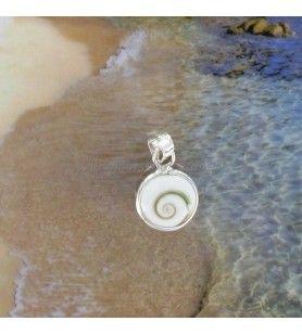 Pendentif argent Oeil de Sainte Lucie rond