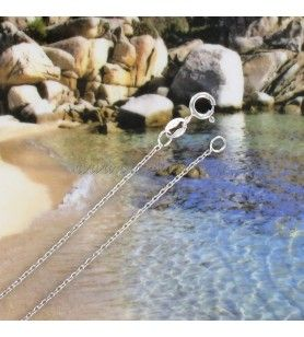 Chain in silver 925° Rhodié mesh forçat  - Chain in silver 925° Rhodié mesh forçat