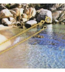 Catena maglia da carcerato, Placcato in Oro, 40 cm