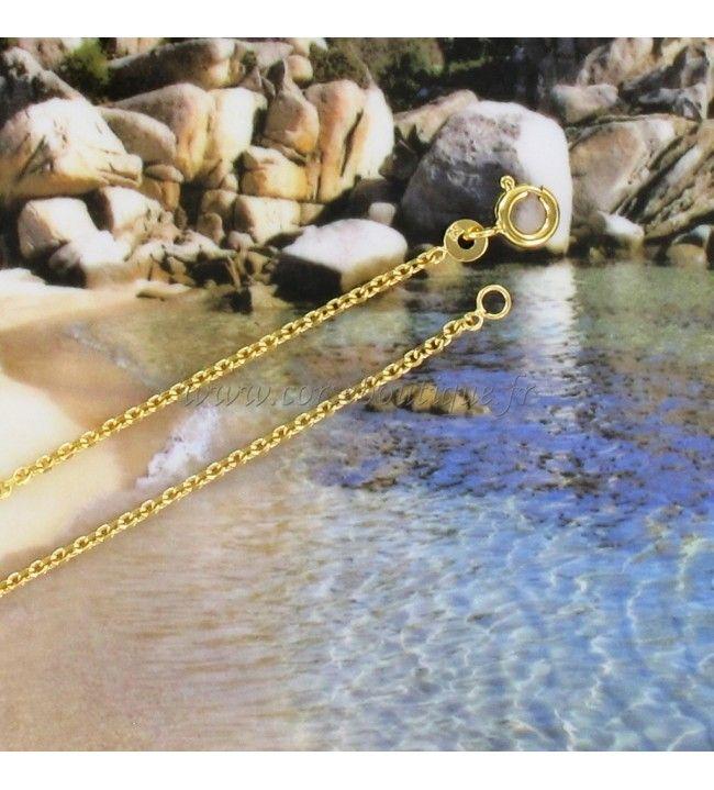 Cadena de malla condenar, Chapado en Oro, 40 cm