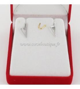 Boucles d'oreilles Carte Corse Stylisée Argent
