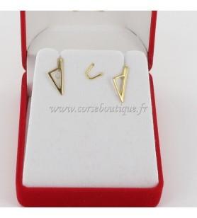 Orecchini di Carta di corsica Stilizzato in Oro Placcato