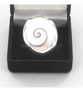 Ring zilver ovaal Oog van St Lucia, Groot Model
