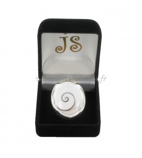 Ovaal zilveren ring Saint Lucia Eye Groot Model