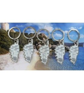 Corsica Card Keyring with Initial  - Corsica Card Keyring with Initial
