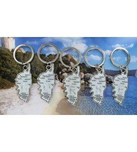Schlüsselanhänger Korsika mit anfänglichem