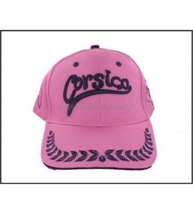 Cap voor volwassenen Classic Roze geborduurde Corsica