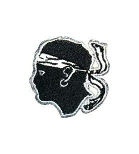 Patch embroidered Moor's Head