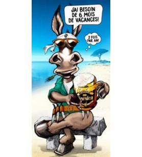 Toalla de burro humorística