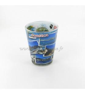 Vaso de licor de decoración de fotos de Córcega