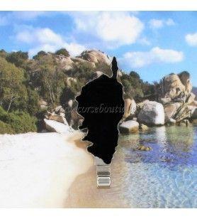 Magnet métal crochet carte Corse