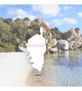 Magnete in metallo gancio carta di Corsica  - Carta all'uncinetto in metallo magnetico Corsica