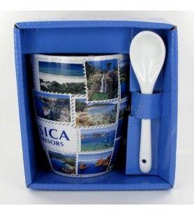 Tazza con cucchiaio Corsica isola del tesoro