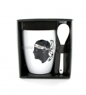 Mug with spoon Head of a Moor