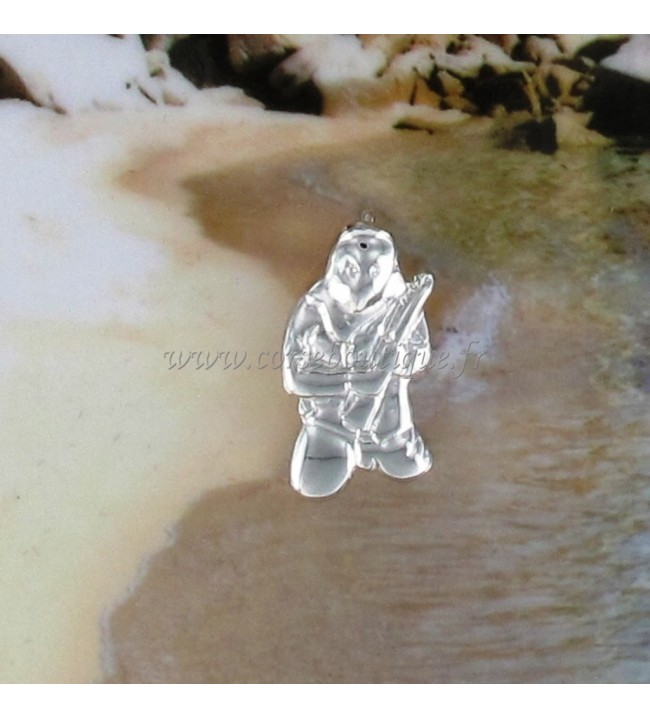 Pendel Ribellu Kleines Modell Silber Rhodiniert