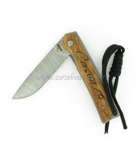 Corso cuchillo Amarillo grabado Córcega