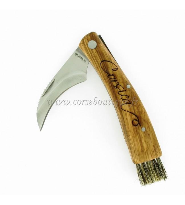 Couteau corse à champignon gravé 1704