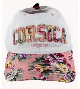 Mütze Blumen Fuschia