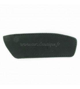 Schwarzes Lederblech für Messer 12-13 cm