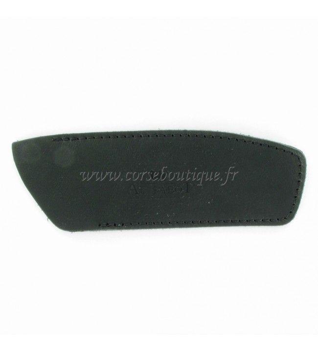 Scheide aus schwarzem leder für das messer 12-13 cm
