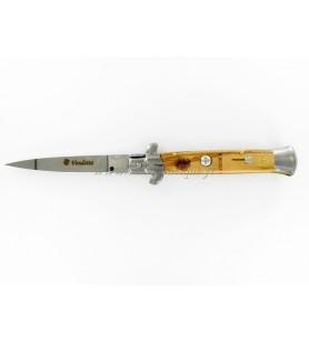 Couteau corse automatique manche olivier lame inox 22 CM