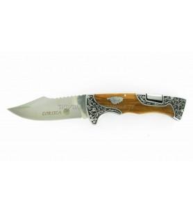 Corso cuchillo de Madera de olivo 23 cm acabado goldsmith