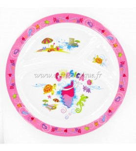 Plate Boxed pink island