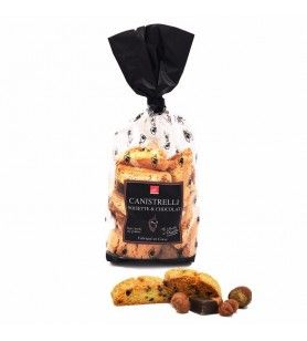 Canistrelli Piccolo Corso di Nocciola al Cioccolato 250 gr  - Canistrelli con fiocchi di nocciole e gocce di cioccolato 250g