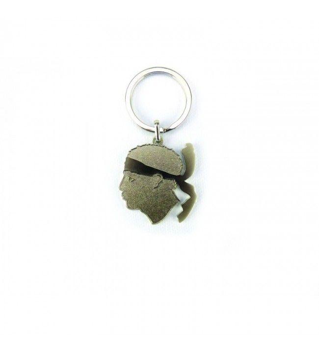 Porte clés Tête de Maure en Acier