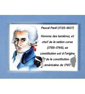 Magnete In Metallo Pascal Paoli