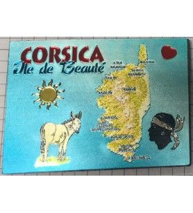 Magnet Réctangulaire métalisé Corsica