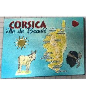 Magnete Réctangulaire métalisé Corsica  -  Magnete Réctangulaire métalisé Corsica