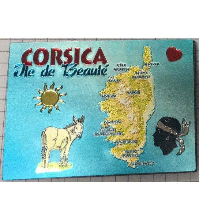 Magnet Rectangulaire métalisé Corsica