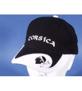 Casquette noire et blanche Tête de Maure Corsica