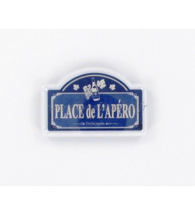 Magnet crystal HD plaque rue